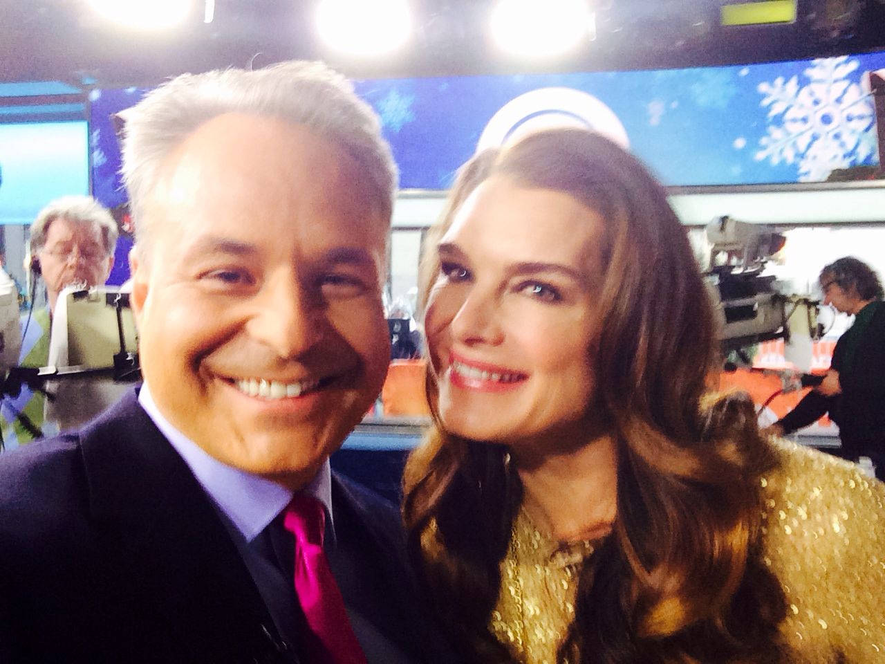 Clint Arthur with Brooke Shields