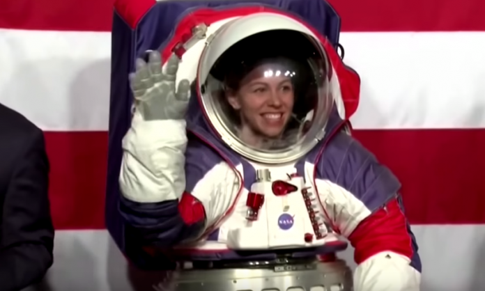 NASA unveils spacesuit designed for first woman on the moon