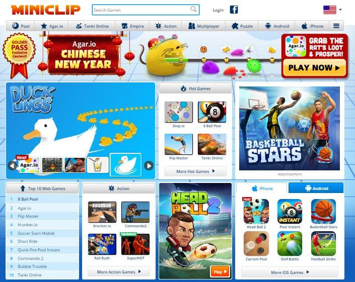 Miniclip games for children