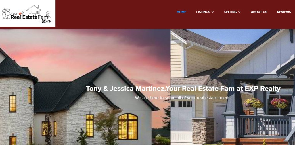 Tony and Jessica Martinez Your Real Estate Fam