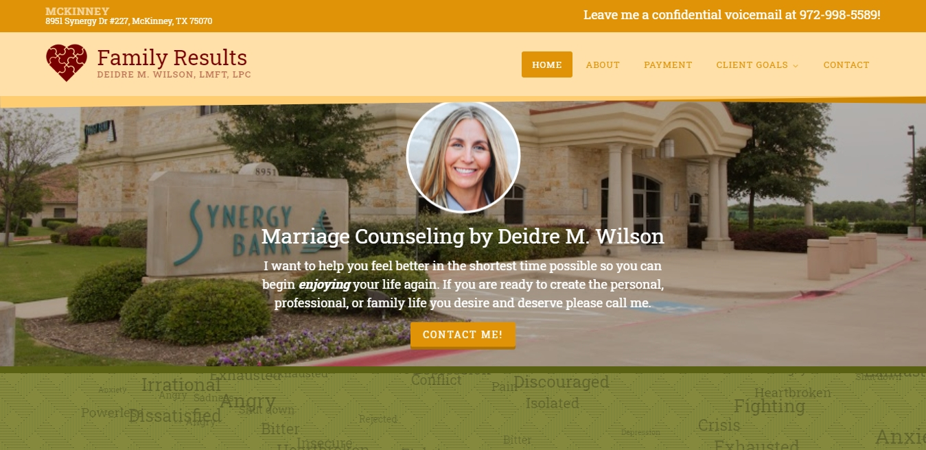 Family Results Marriage Counseling Dallas