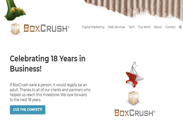 BoxCrush Web Design