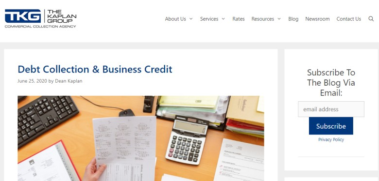Kaplan Group Collection Agency Blog - debt collection website