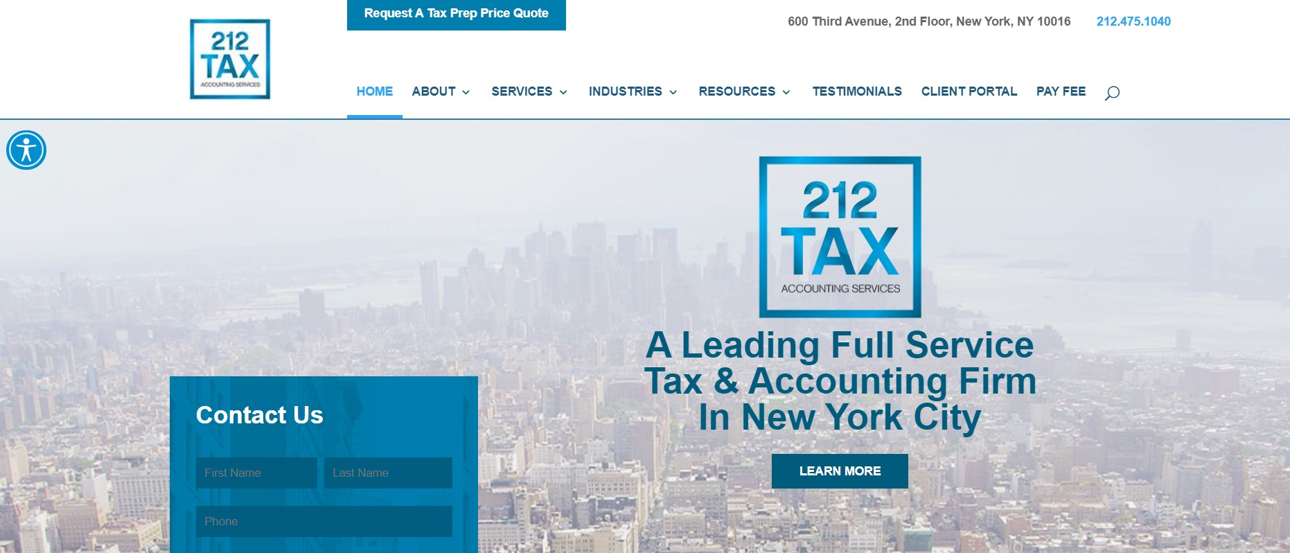 212 tax cpa firm in new york