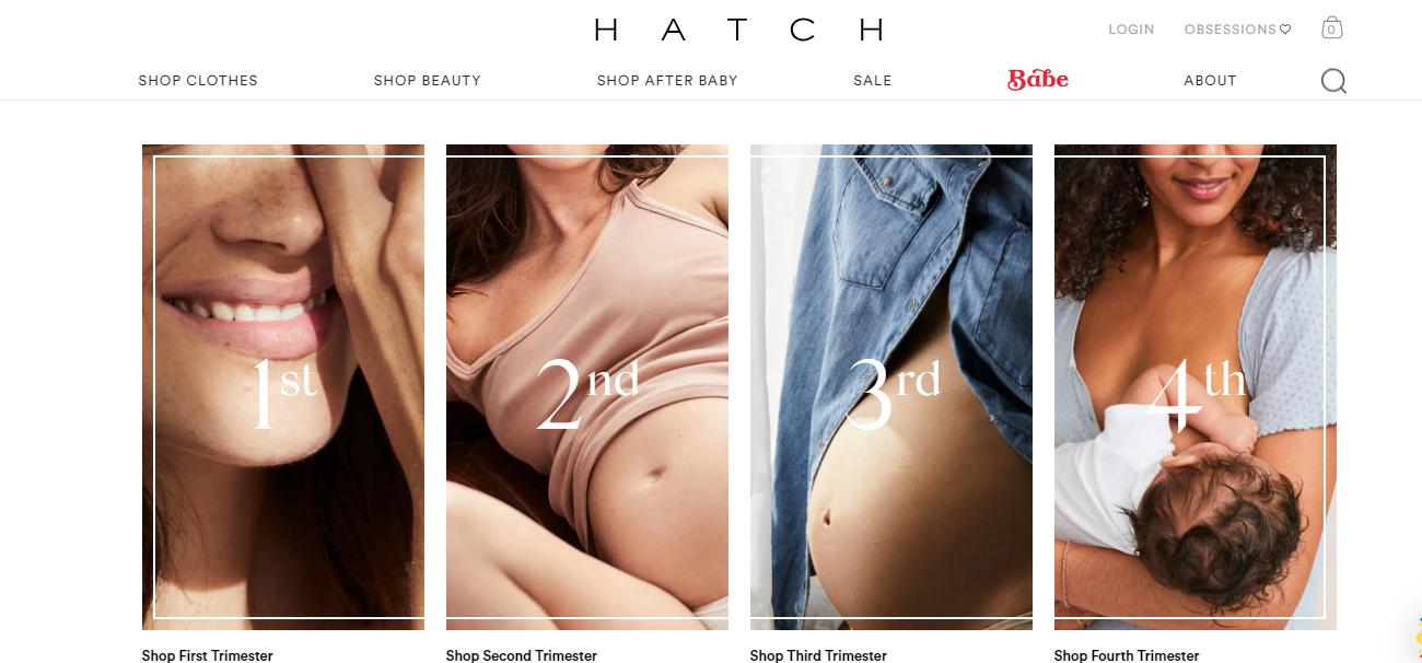 hatch maternity shop
