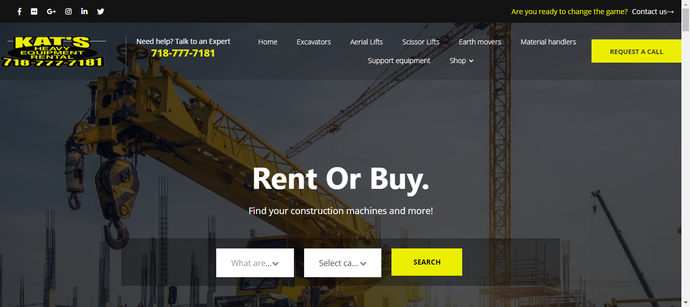 best heavy machinery rentals in new york city