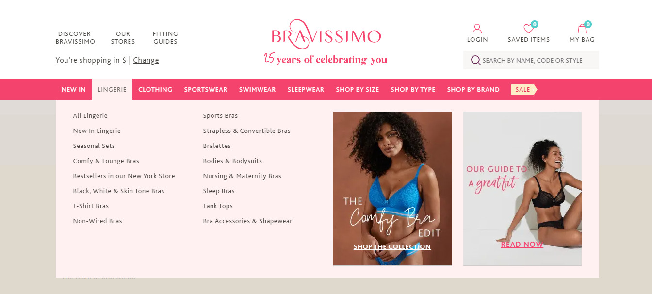 bravissimo lingerie and sleepwear in new york