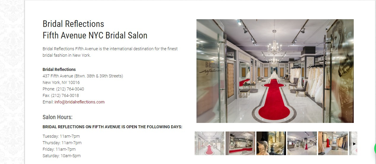 bridal shop in New York