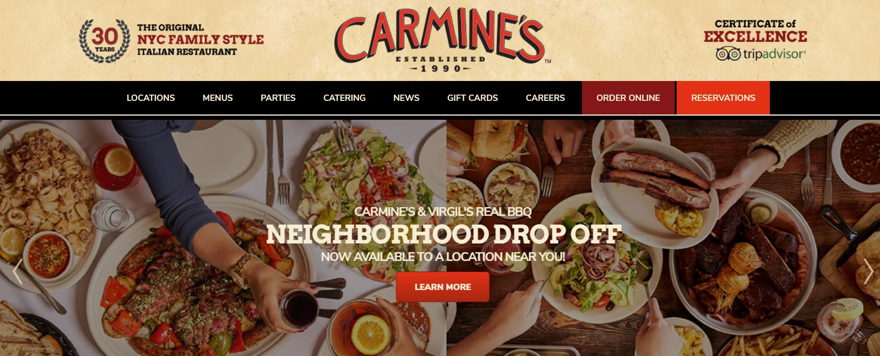 carmine's restaurant in new york