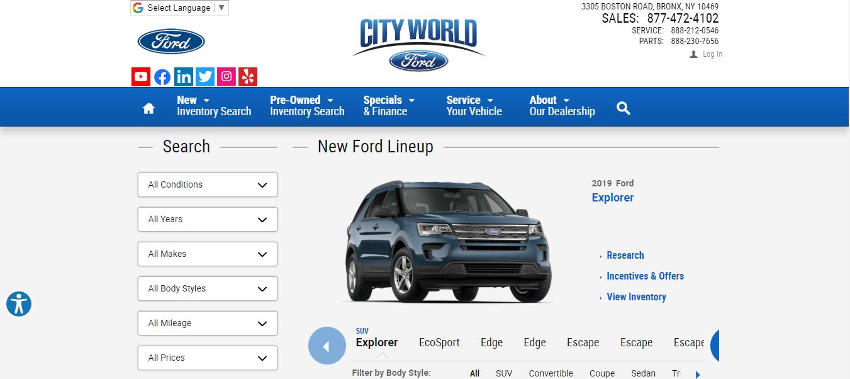 city world ford dealer in new york