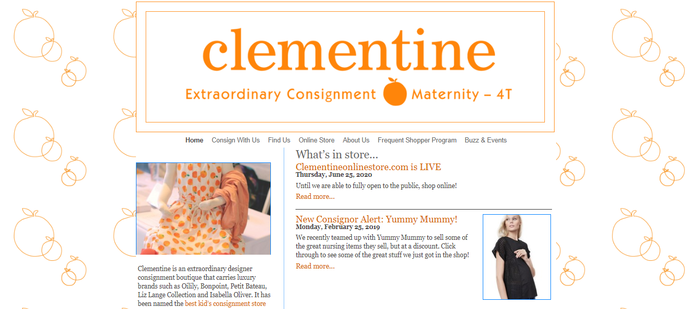 clementine consignment maternity shop