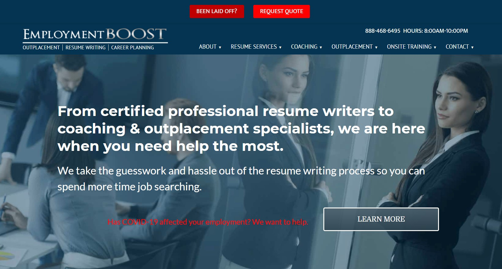 employment boost resume writing in new york