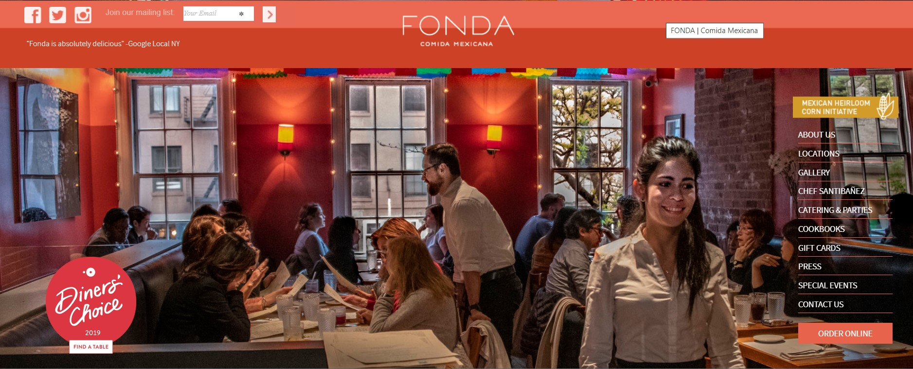fonda mexican restaurant in new york