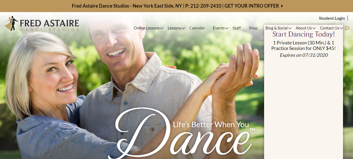 fred astaire dance instructor in new york