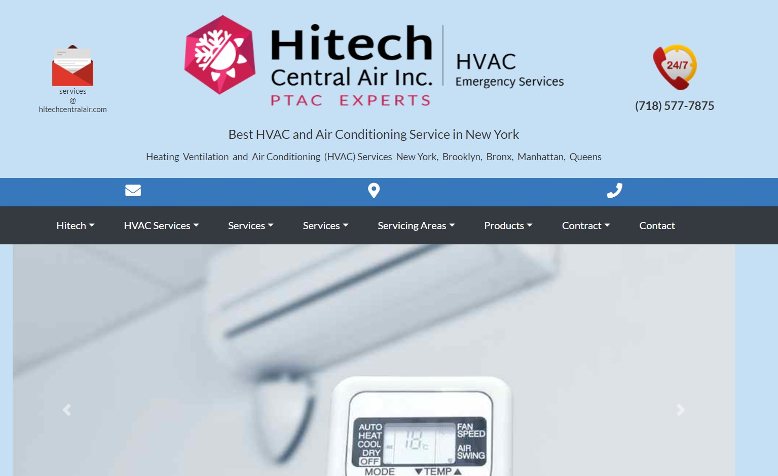 hitech central hvac services in new york