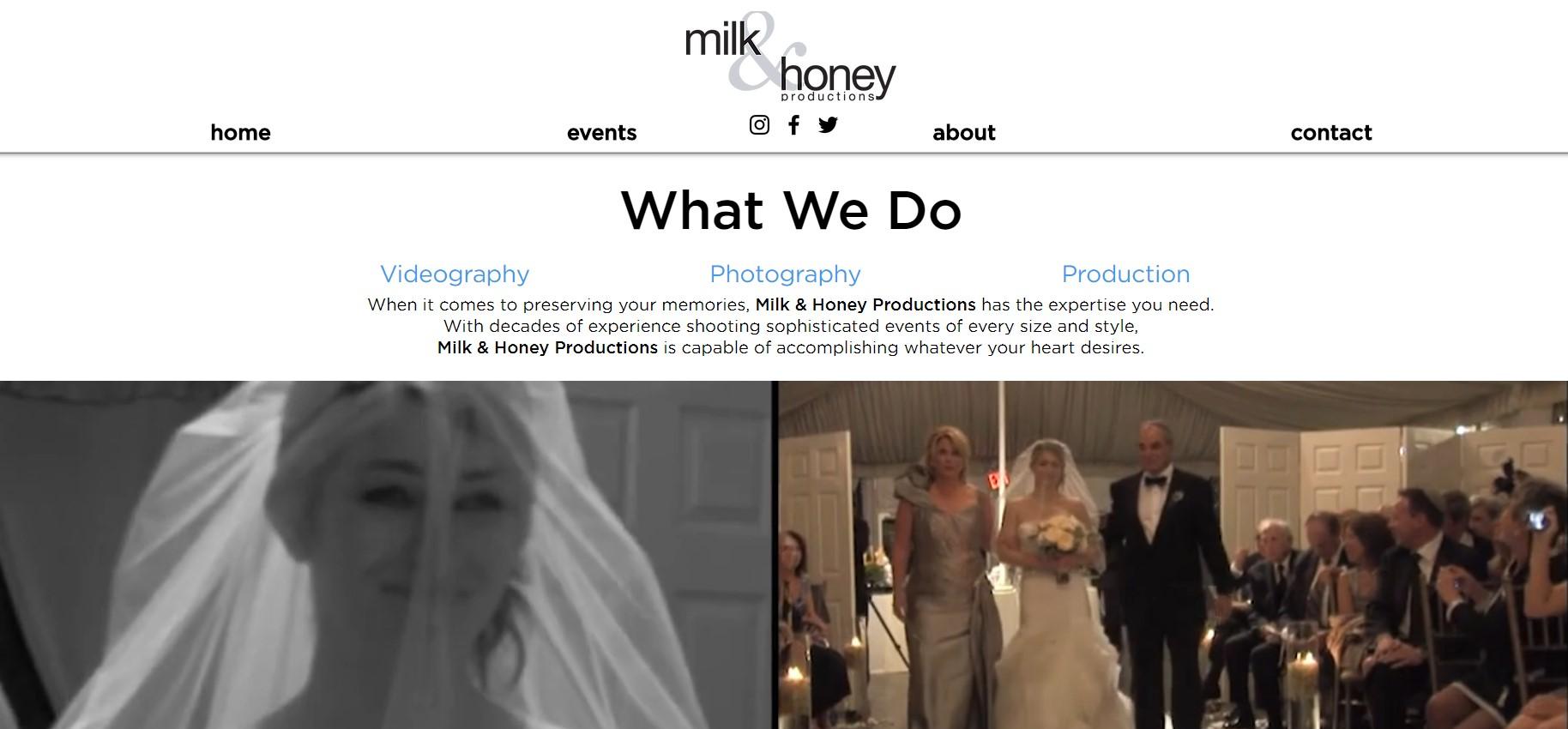 milk & honey videographer in new york
