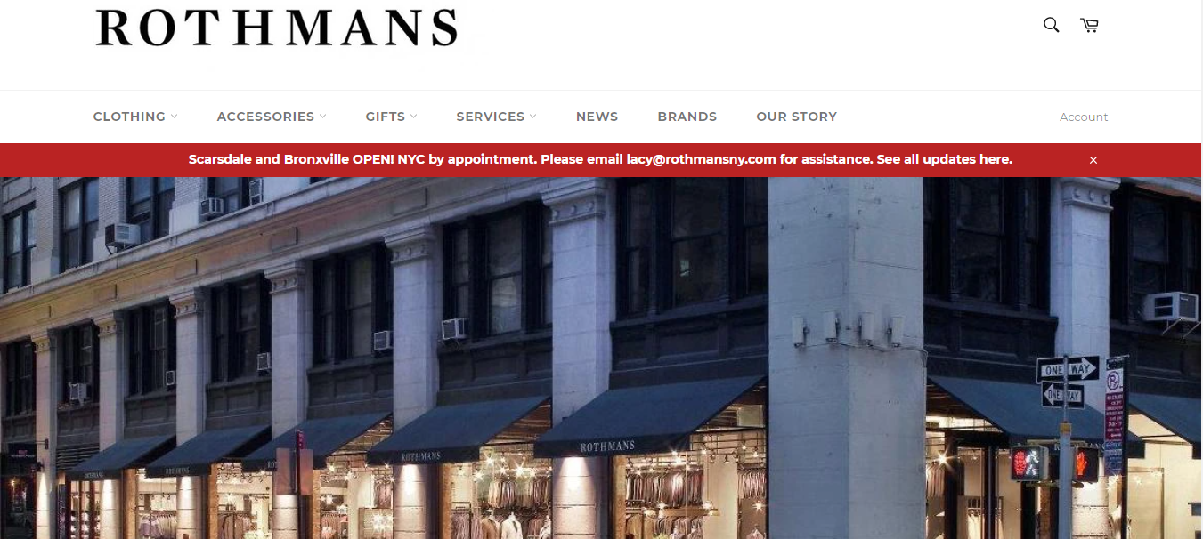 rothman's men's clothing new york