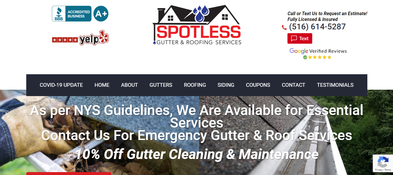 spotless gutter maintenance in new york