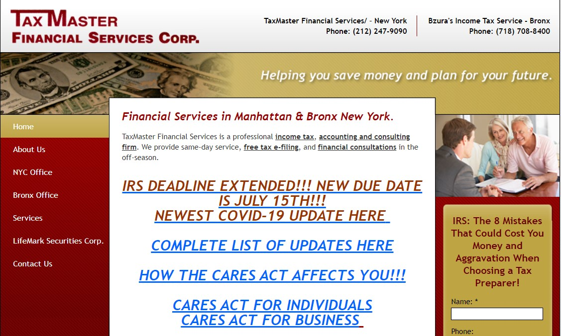 tax master tax service in new york