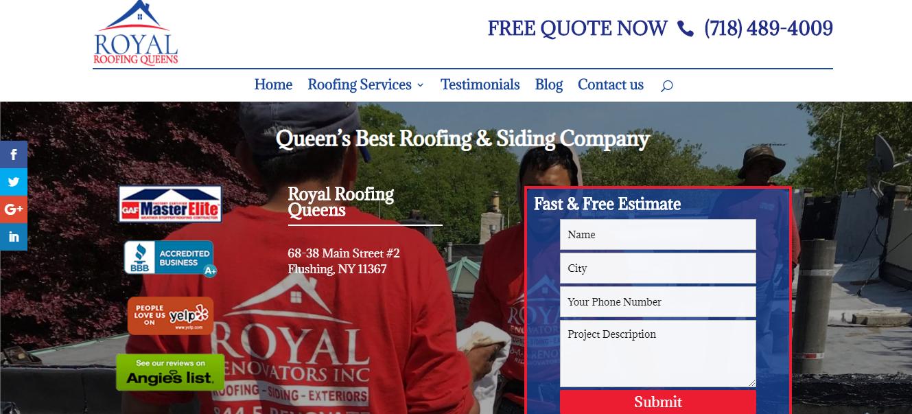 royal gutter installers in new york