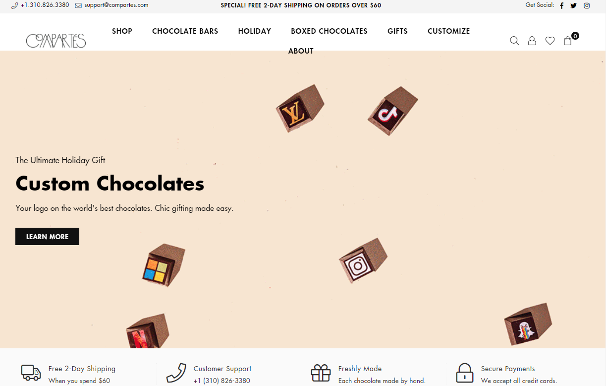 Chocolate Shops in Los Angeles