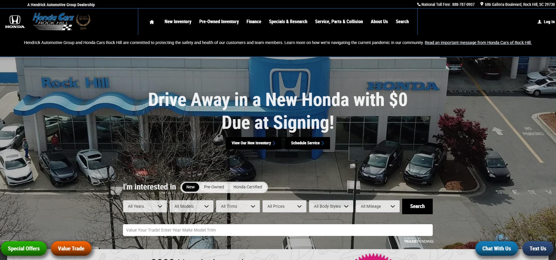 5 Honda Dealers in Charlotte