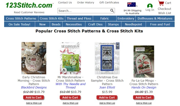 123Stitch - cross stitch kits