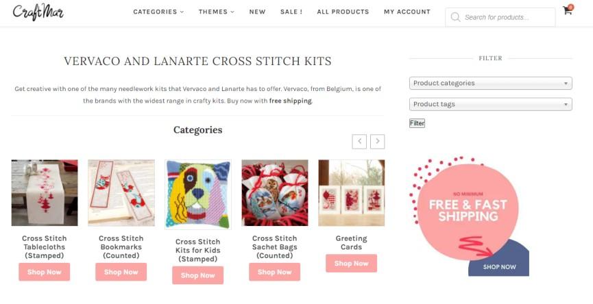 Craft Mar - cross stitch kits