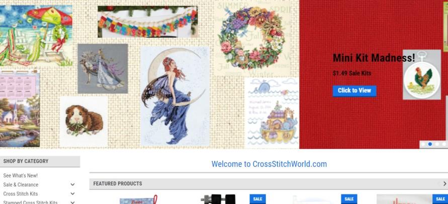Cross Stitch World - cross stitch kits