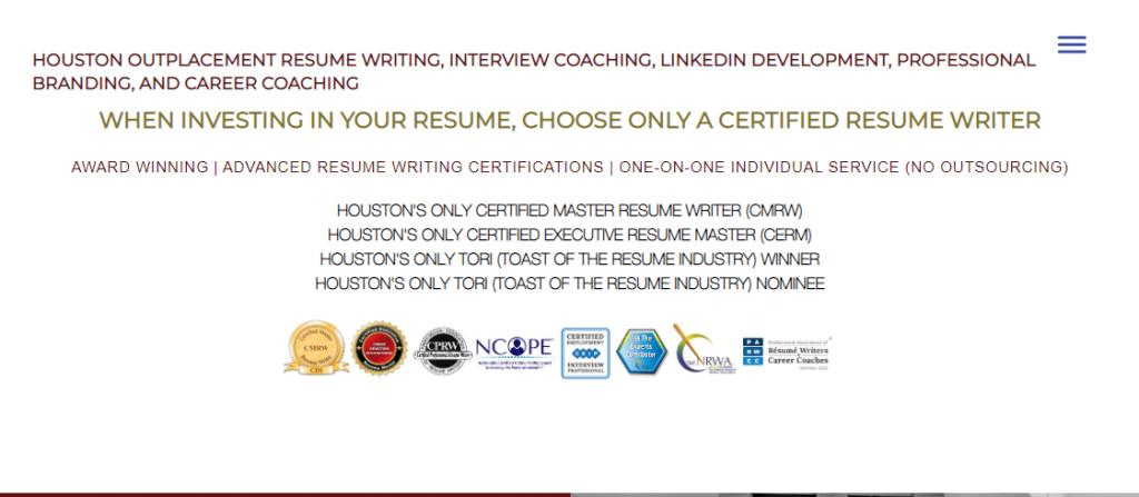 Resume writing help houston