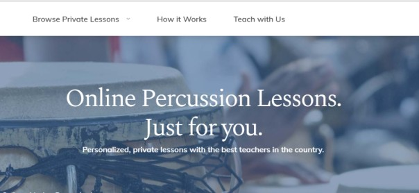 Take Lessons – Online percussion lessons