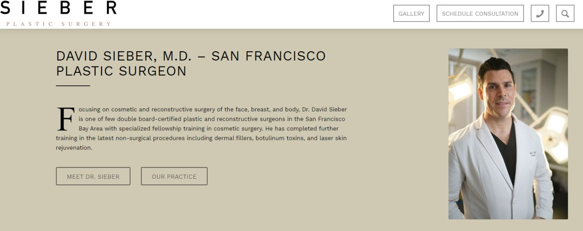Dr. David Sieber - Plastic Surgeons in the Bay Area