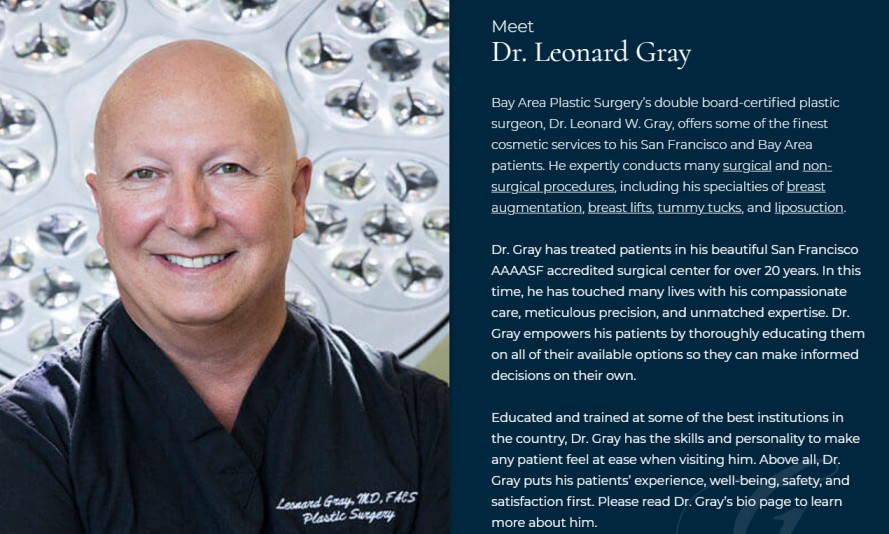 Dr. Leonard Gray - Plastic Surgeons in the Bay Area