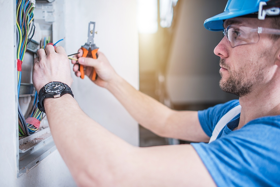 Licensed and insured electrician completing a job in Moncks Corner South Carolina.