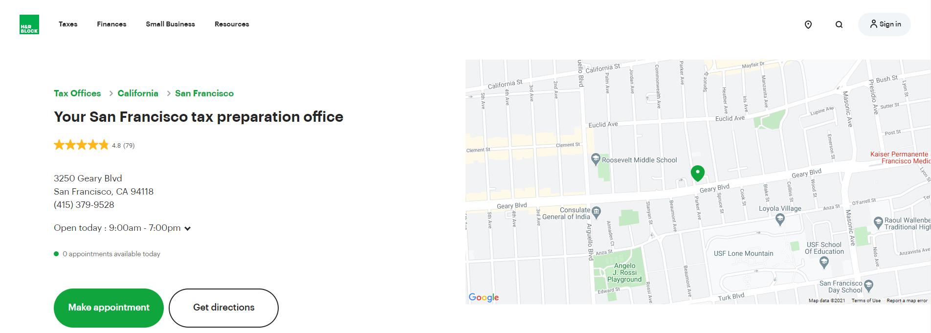 best tax service in San Francisco