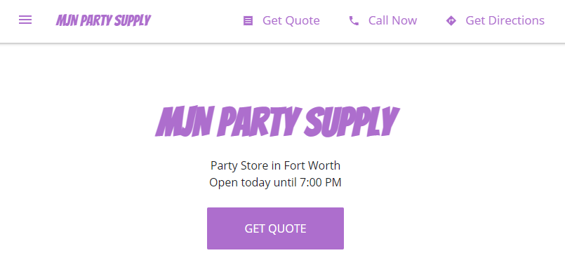 Fort Worth best party supply