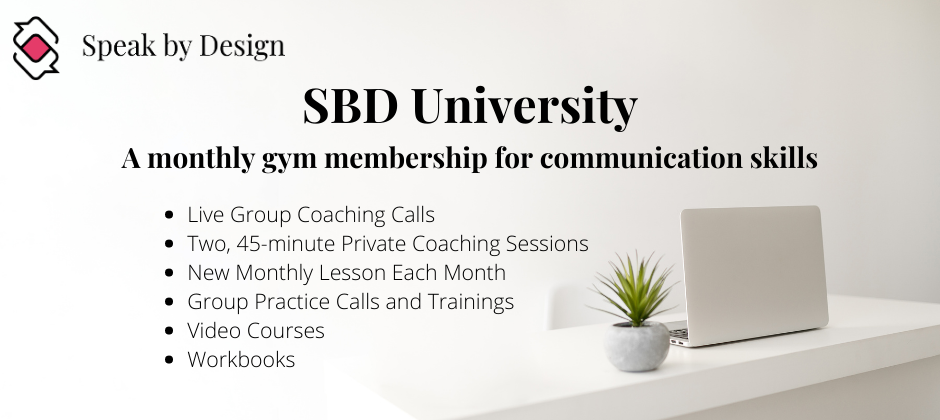 Speak by Design University - coaching programs