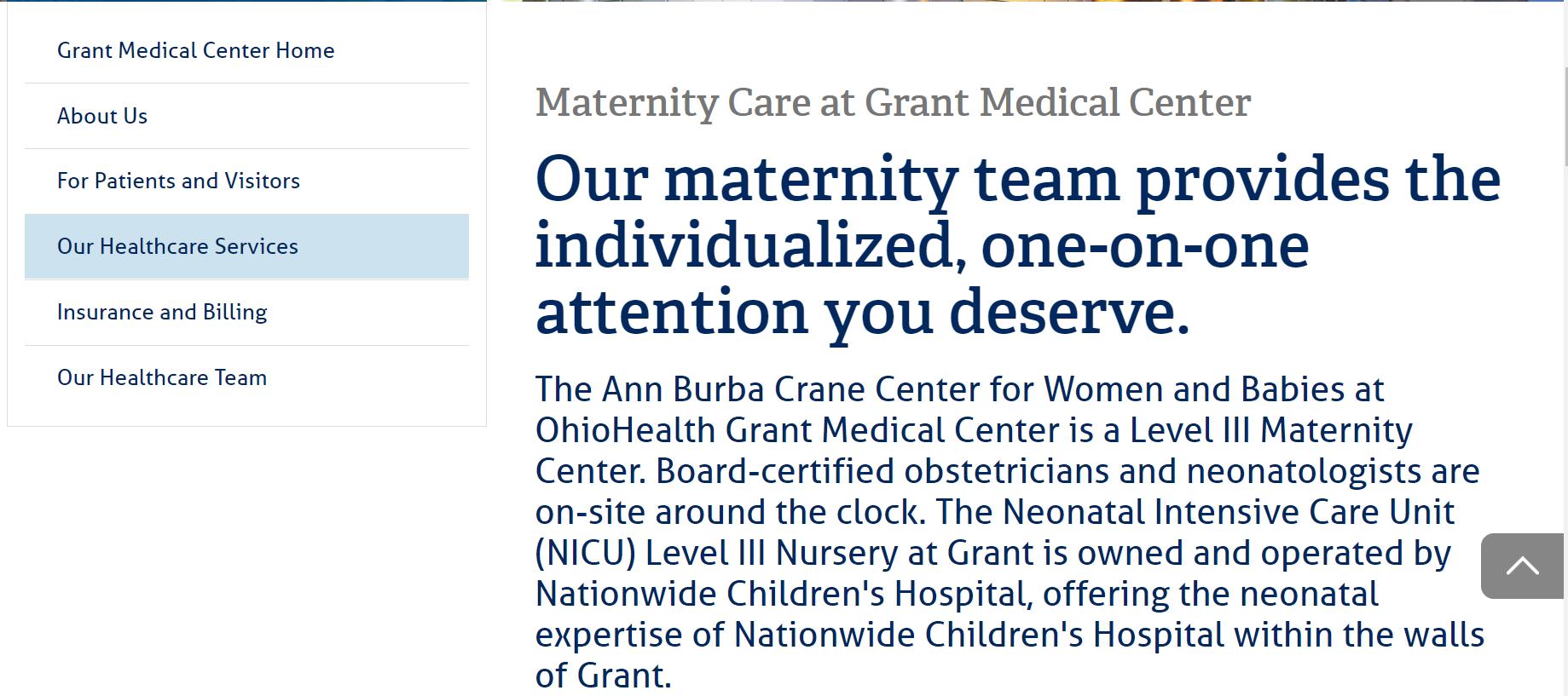 Frontrunner in providing quality maternal care