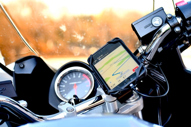 A GPS product on a bike bought from a store.