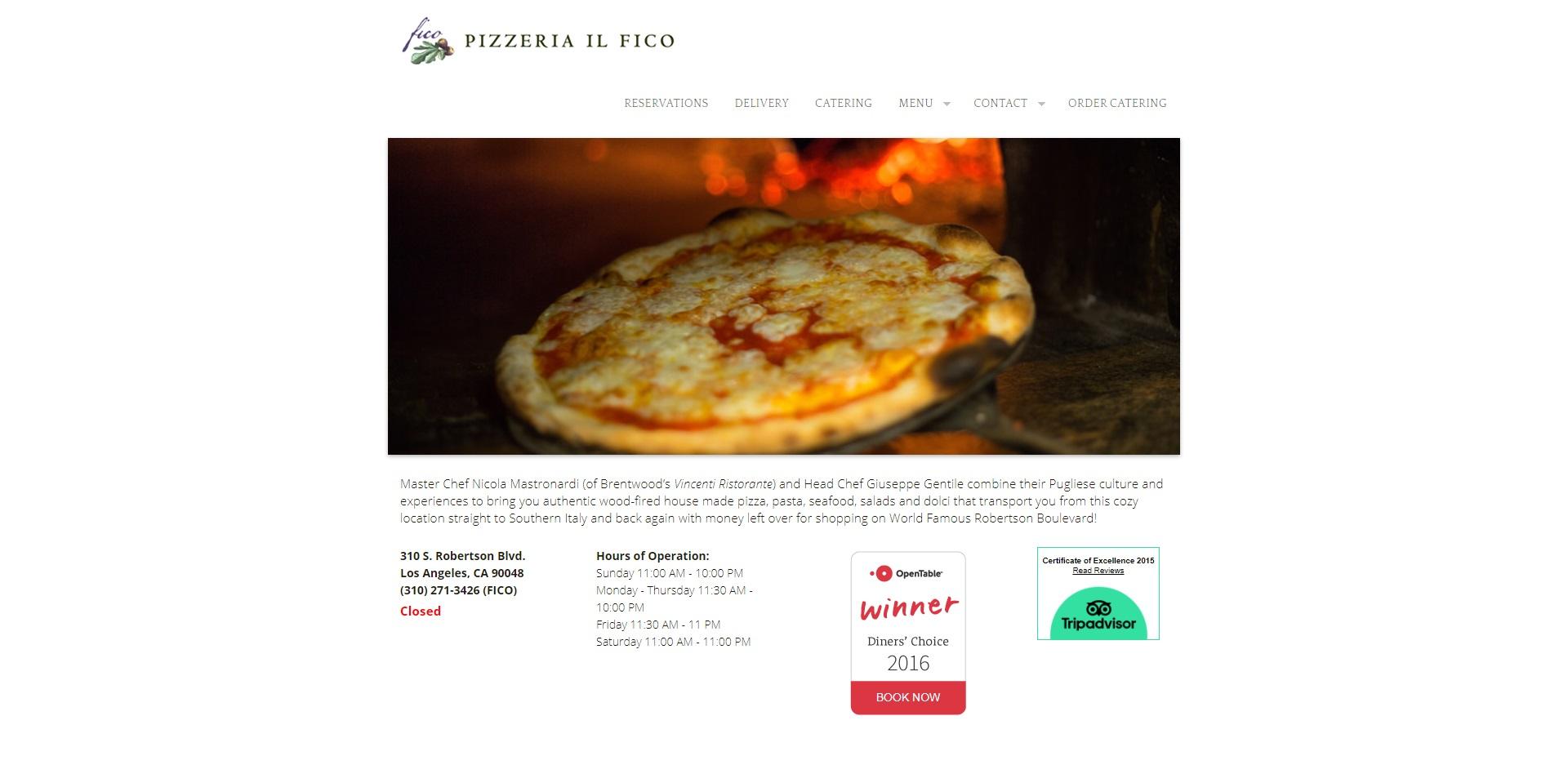 Best Pizzeria in Los Angeles