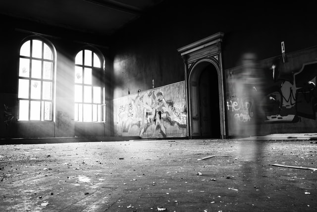 An abandoned ghost warehouse from a tour in America.