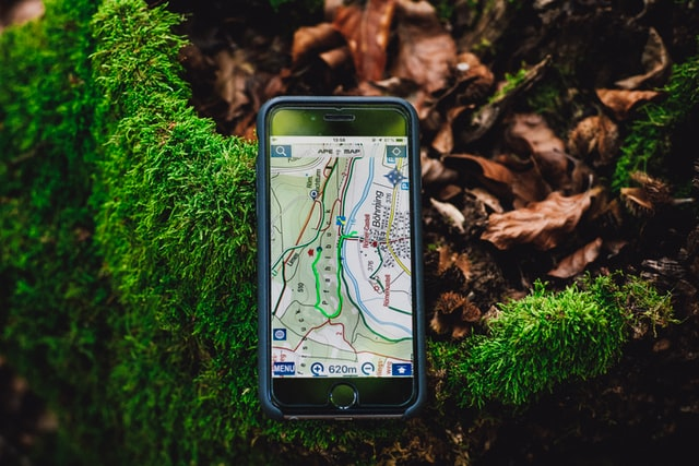 A GPS product for navigation outdoors in nature.