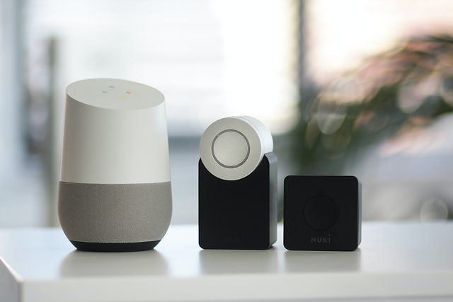 A row of devices part of the Internet of Things.