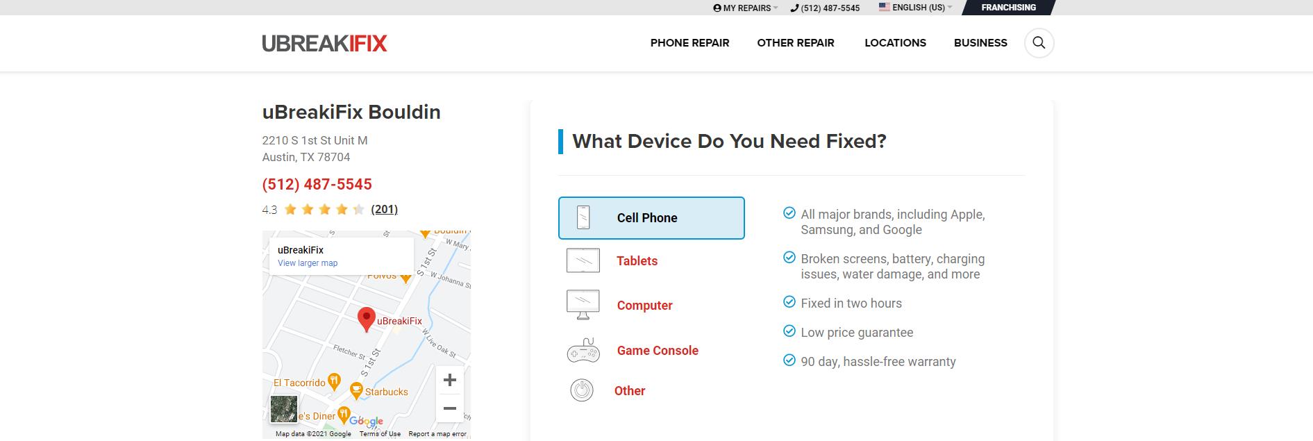 phone repair shop in austin