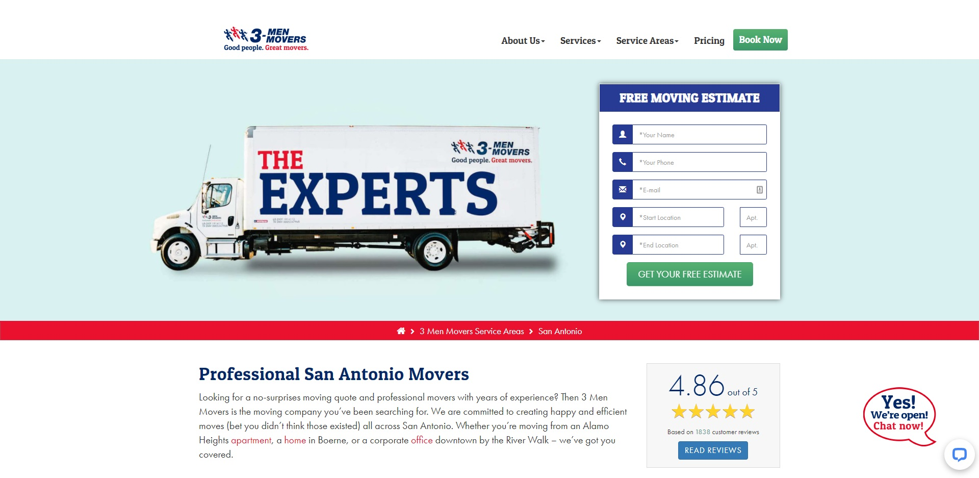 The Best Removalists in San Antonio