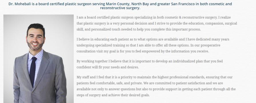 Dr. Khashayar Mohebali - Best Plastic Surgeons in Marin County
