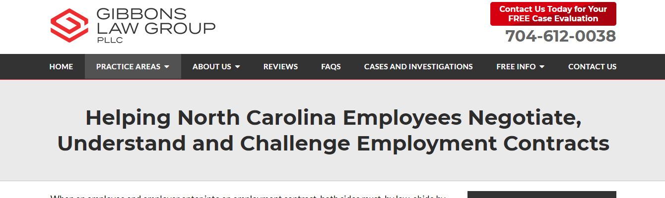employment contract attorneys in charlotte, nc