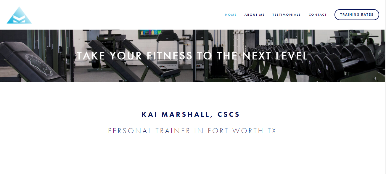Kai Marshall Personal Training in Fort Worth