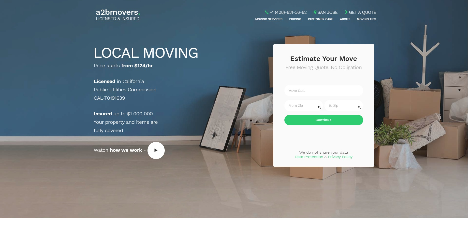 The Best Removalists in San Jose