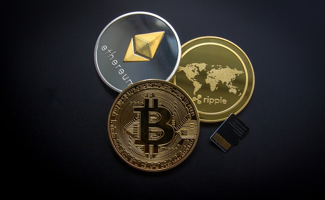 Bitcoin and cryptocurrency miners purchased online.